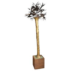 Dramatic French Palm Tree Floor Lamp