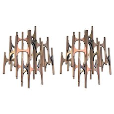 Pair of 1970s Lightolier Chandeliers Designed by Sciolari