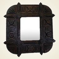 Tramp Art Framed Wall Mirror