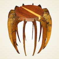 "Artisan Crafted Gilt Metal and Wood ""Spider"" Side Table"