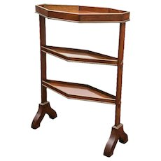 Late Georgian Period Mahogany and Brass Trimmed Etagere Table