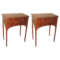 Pair of 19th Century Flame Mahogany End/Bedside Tables