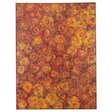 """Rose Field"", Original Mixed Media Painting by Sheema Muneer"
