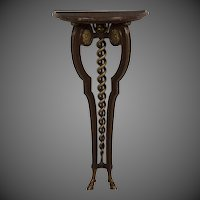 French Neoclassical Gilded Walnut Console Table, Marble Top circa 1875