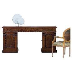 Antique English Mahogany Pedestal Sideboard Buffet circa 1850