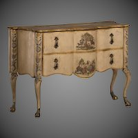 Antique Italian Baroque Painted Two Drawer Chest, circa 1750