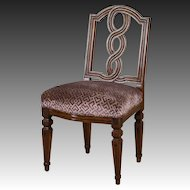 Antique Italian Neoclassical Walnut Chair circa 1780