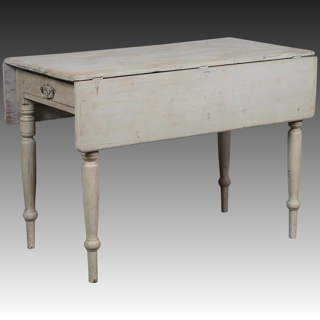 Antique English Painted Drop Leaf Table Circa 1875 Carl