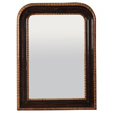 French Louis Philippe Faux Tortoise and Rosewood Mirror circa 1880