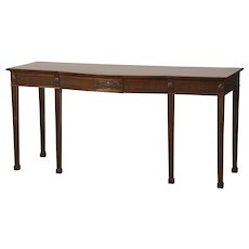 Adam Style Antique English Mahogany Presentation/Serving Table, circa 1860
