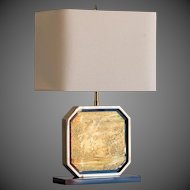Asian Inspired French Vintage Brass Lamp circa 1960