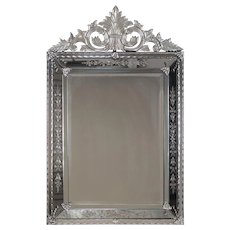 "Antique Venetian Style French Pareclose Mirror circa 1890 (37"" w x 59"" h)"