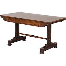 English William IV Rosewood Library Table circa 1835