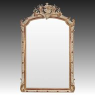 Antique French Louis Philippe Painted Mirror circa 1880