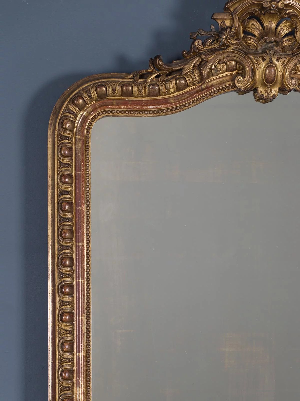Antique French Louis Philippe Mirror R 233 Gence Cartouche