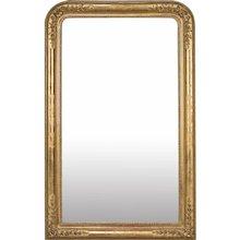 "Antique French Louis Philippe Gold Leaf Mirror circa 1870 (37"" w x 57 1/2"" h)"
