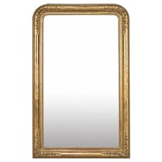 "Antique French Louis Philippe Gold Leaf Mirror circa 1870 (37"" w x 57 1/2"" h)"