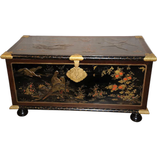 A European Gilt Bronze-Mounted Lacquer Chest, Circa 1700