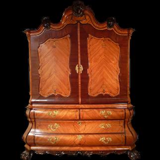 A Dutch Louis XV cupboard
