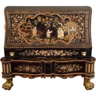 Dutch Lacquer Secretary Desk