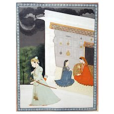 Abhisandhita Nayika- The Dejected Lover, Kangra, India, circa 1800
