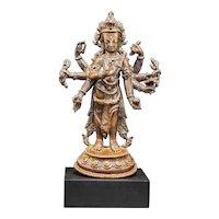 A copper figure of Amoghapasha, 15th century, Nepal