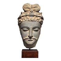 Head of a Bodhisattva, Ancient Region of Gandhara, circa 2nd/ 3rd century, Kushan Dynasty