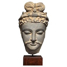Head of a Bodhisattva, Ancient Region of Gandhara, circa 2nd/ 3rd century, Kushan Dynasty