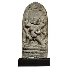 A stone sculpture of Parnashavari, circa 10th/ 11th century, Pala Dynasty