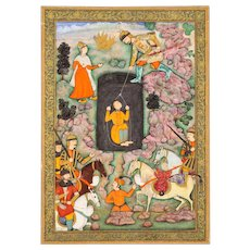 An illustration to the Shahnameh, circa 1600, Akbar period, Mughal India