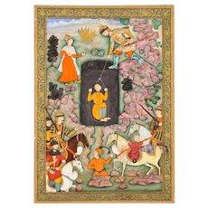 An illustration to the Shahnameh, circa 1600, Akbar period, Mughal India