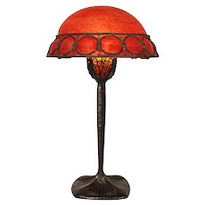 Art Deco Bronze and Glass Table Lamp by Edgar Brandt and Daum Nancy