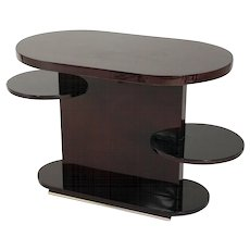 French Art Deco Oval Table