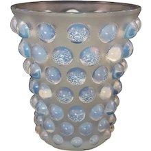 Glass 'Bammako' Vase by Rene Lalique