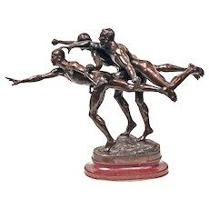 Art Deco Bronze Sculpture by Alfred Boucher