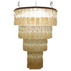Large Murano Chandelier by Roberto Pamio & Renato Toso for Leucos, Italy, 1970