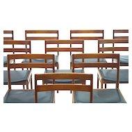 Set of Ten Danish Dining Room Chairs by Hansen Rosengreen