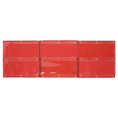 Otto Zapf Red Plastic Shelf System, Germany, 1971, Indesign