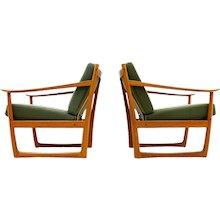 Pair of Lounge Chairs by Peter Hvidt & Mølgaard, FD 130, Denmark, 1961