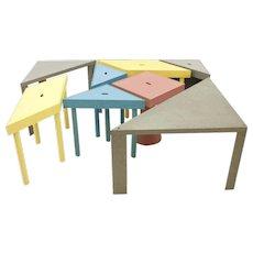 Massimo Morozzi Tangram tables, Cassina 1983