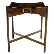 Danish Rosewood Tray Table with Brass, 1960`s