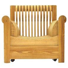 Lounge Chair by Mario Ceroli 'Mobili Della Valle' Poltronova, Italy, 1966