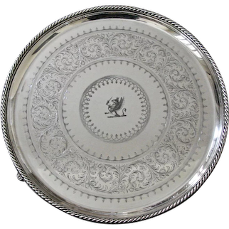 Elkington & Company Engine-Turned Silver-plate Tray Made in 1849