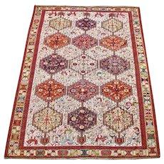 Soumak Caucasian Design Silk Carpet