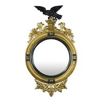 Regency Style Bull's Eye Mirror of Large Scale