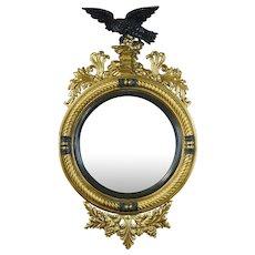 Regency Style Bull's Eye Mirror of Large Scale