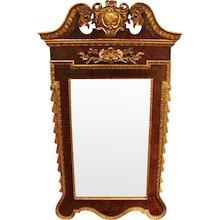 George II Style Walnut Parcel-Gilt Mirror