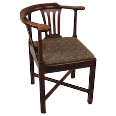 English George III Oak Corner Chair