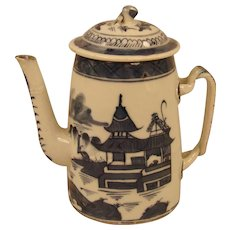 19th Century Chinese Export Canton Coffee Pot