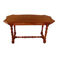 Italian Walnut Baroque Style Side Table